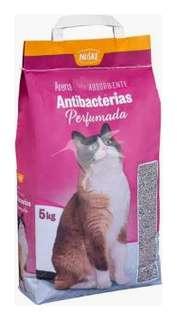 Arena para gato antibacterias perfumada 5 Kg