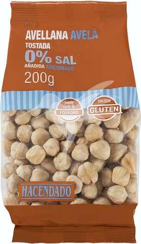 Comprar Avellanas Tostadas Sin Sal 200 Gr En Mercadona Online Con Lola Market