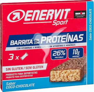 Barritas con proteínas coco y chocolate 120 gr