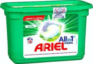 Detergente lavadora líquido en cápsulas actilift ropa color y blanca 3 en 1