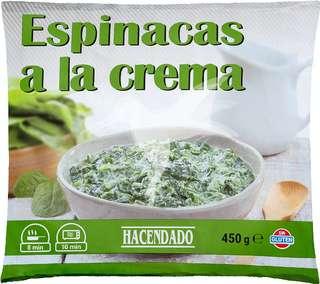 Espinacas a la crema congeladas 450 gr