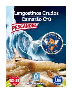 Pescanova Langostino congelado crudo mediano (de 50 a 70 piezas) 1 Kg