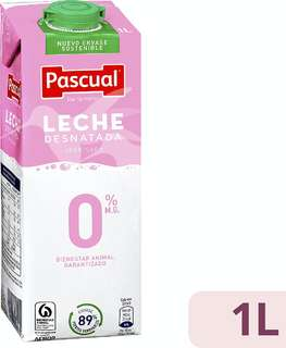 Pascual Leche desnatada 0% MG 1 L