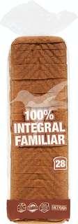 Pan de molde integral familiar (28 rebanadas)