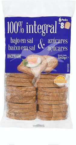 Comprar Pan Tostado Integral Bajo En Sal Y Bajo En Azúcar En Mercadona Online Con Lola Market
