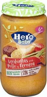 Hero Baby Verduritas con Pollo y Ternera + 6 meses 235 gr
