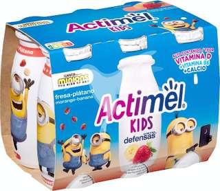 Actimel Actikids Yogur liquido de fresa y platano